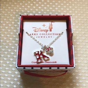 Disney K Mini Mouse necklace Swarovski crystals